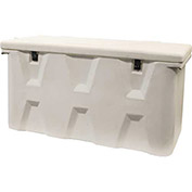 "RomoTech Outdoor Dock Storage Box 82123389 - Medium 51""L x 27""W x 24""H, White"