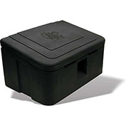 "RomoTech Poly Salt Storage Box 9031105 - 350 Lbs. Capacity 17""L x ""24""W x 20""H, Black"