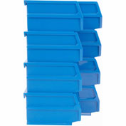 Triton 028-B Poly Blue Hanging Bin & BinClip Kits, (4) Small & (4) Medium