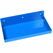 "Triton 126 12"" W x 6"" Deep Blue Epoxy Coated Steel Shelf for DuraBoard"