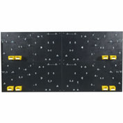 "Triton DB-4BK Kit (4) 24"" W x 48"" H x 3/16"" D Black PolyPegboards W/ 96 pc. DuraHook Set & Bins"