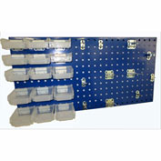 Triton LB18-1BHBTR-Kit (1) 18 ga Blue Steel Square Hole Pegboard W/ (43 pc) Bins, Clips & Hooks