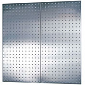"""Triton LB18-S (2) 18"""" W x 36"""" H x 1/2"""" D Stainless Sq. Hole Pegboards W/ Wall Mounting HW"""