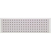 "LocBoard™ Square Hole Pegboard Strip, 31.5""Wx9""H, White Epoxy (1 pc)"