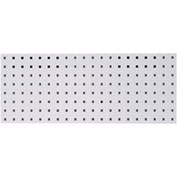 "LocBoard™ Square Hole Pegboard Strip, 30""Wx12""H, White Epoxy (1 pc)"
