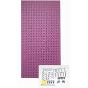Triton Products, TPB-36WOH-Kit, Pegboard Back Panel, Wild Orchid, 48 Inch X 24 Inch