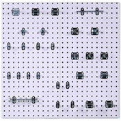 Triton WC18-WH-Kit (2) 18 ga White Steel Square Hole Pegboard W/ (28 pc) LocHook & Rod Set