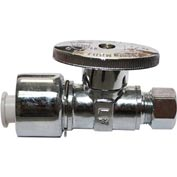 "Keeney® K2068pcpolf, Straight Quarter Turn Valve 5/8"" O.D. Comp. X 3/8"" O.D., Chrome - Pkg Qty 25"