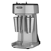Waring WDM240 - Milk Shake Mixer, Double Spindle, 3 Speed, with 2 Stainless Steel Cups 120V