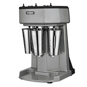 Waring WDM360 - Milk Shake Mixer, Triple Spindle, 3 Speed, with 3 Stainless Steel Cups 120V