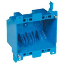 "Carlon® B225R-UPC, Outlet Box, 2-Gang, 2-3/4 D x 3-15/16"" L x 3-1/8"" W, Blue, 30 Pack - Pkg Qty 30"