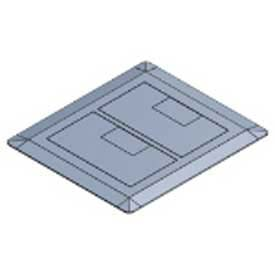 Carlon® E9762s, Box Cover, Rectangular, 2-Gang, Non-Metallic, Slate - Min Qty 2