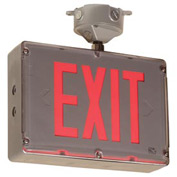 Emergi-Lite GGSVXHZ1RD Class 1 Division 2 Exit Sign - Exit AC-Only, Red Led Single Face