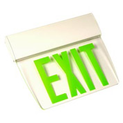 Emergi-Lite TAPE1GC Single-Face Economy Edge-Lit Exit Sign - Ac-Only Green