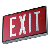 Emergi-Lite WSLX-2061R-N Everlite Tritium Exit Sign - 20 Year Single Face Red