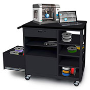 Marvel® Mobile 3D Printer Cart with Storage Drawer & 4 Side Shelves