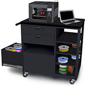 Marvel Mobile 3D Printer Cart w/ 2 Storage Drawers & 4 Side Shelves