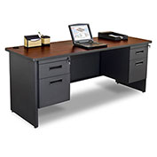 "Marvel® Credenza for Pronto® Series - Double Pedestal - 72""W x 24""D - Mahogany"