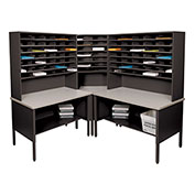 Marvel® - 84 Slot Corner Literature Organizer - Black
