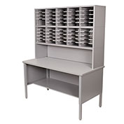 Marvel® - 50 Slot Literature Organizer with Riser - Slate Gray