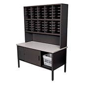 Marvel® - 50 Slot Literature Organizer with Riser and Cabinet - Black
