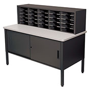 Marvel® - 25 Slot Literature Organizer with Cabinet - Black