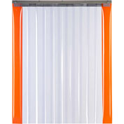 "TMI Armor-Bond Premium Strip Door SD10-8A-4X7-SL - 4'W x 7'H - 8"" Smooth Clear PVC"