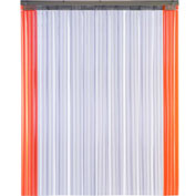 "TMI Armor-Bond Premium Strip Door SD10-8A-8X8-SL - 8'W x 8'H - 8"" Ribbed Clear PVC"