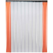 "TMI Low Temperature Strip Door SD11-8-5X8 - 5'W x 8'H - 8"" Smooth Clear PVC"