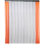 "TMI Low Temperature Strip Door SD21-12-10X12 - 10'W x 12'H - 12"" Ribbed Clear PVC"