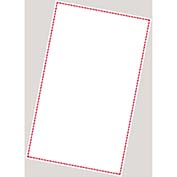 INCOM GHS1277LP GHS Blank Laser Printer Labels, Red Border 1-up, 8-1 2