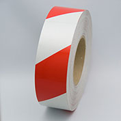 """Reflective Marking Tape, Red/White, 2""""W x 150'L Roll, RST572"""