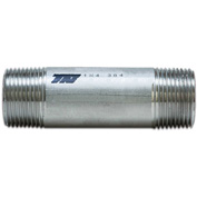 "Trenton Pipe 4"" x 6"" Welded Pipe Nipple, Schedule 40, 316 Stainless Steel - Pkg Qty 5"