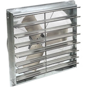 """TPI 24"""" Shutter Mounted Direct Drive Exhaust Fan CE 24-DS 1/4 HP 3400 CFM"""