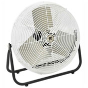 TPI F24CR,24 Inch Corrosion Resistant Workstation Floor Fan 1/8 HP 2100 CFM