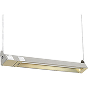 TPI Indoor/Outdoor Quartz Electric Infrared Heater OCH-46-120V-SSE 120V 1500W - Stainless Steel