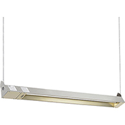 TPI Indoor/Outdoor Quartz Electric Infrared Heater OCH-57-240V-SSE 240V 3000W - Stainless Steel