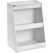 "TrippNT™ White PVC Angled Triple Safety Shelf Station, 12""W x 9""D x 16""H"