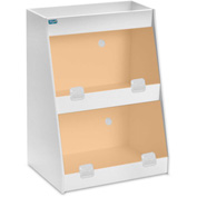 "TrippNT™ White PVC Angled Triple Safety Shelf Station with Orange Door, 12""W x 9""D x 16""H"