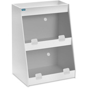 "TrippNT™ White PVC Angled Triple Safety Shelf Station with Smoke Door, 12""W x 9""D x 16""H"