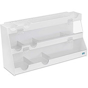 "TrippNT™ Clear PVC Deluxe BenchBooster Workstation, 24""W x 8""D x 12""H"