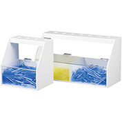 "TrippNT™ White PVC and Acrylic Double Pipette Workstation, 18""W x 7""D x 10""H"