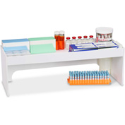 "TrippNT™ White PVC 24"" Step Shelf Station, 24""W x 8""D x 8""H"