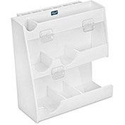 "TrippNT™ White PVC Weighing Supplies Organizer with Clear Acrylic Door, 12""W x 5""D x 12""H"