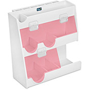 "TrippNT™ White PVC Weighing Supplies Organizer with Red Acrylic Door, 12""W x 5""D x 12""H"