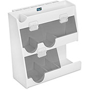 "TrippNT™ White PVC Weighing Supplies Organizer with Smoke Acrylic Door, 12""W x 5""D x 12""H"