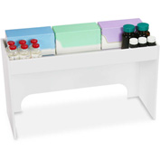 "TrippNT™ White PVC 18"" Step Shelf Station, 18""W x 7""D x 10""H"