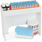 "TrippNT™ White PVC 12"" Step Shelf Station, 12""W x 4""D x 10""H"