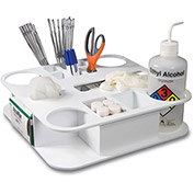 "TrippNT™ Large Rotating All-In-One Maximum Lab Organizer, 15""W x 15""D x 5""H, White"