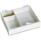"TrippNT™ White PVC 6"" & 9"" Pipette Box with Clear Lid, 12""W x 11""D x 3""H"
